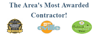 most awarded contractor in Charlottesville & Albemarle County