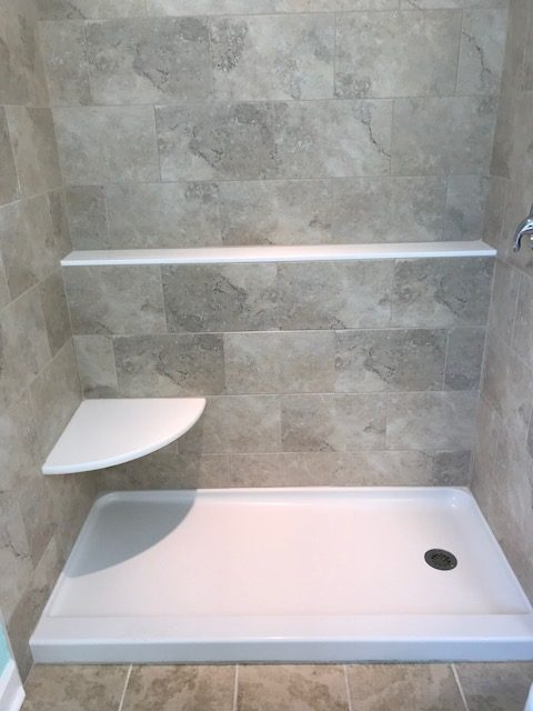 shower remodeling by advantage home contracting